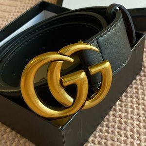 Authentic Black Gucci Marmont belt 32/34